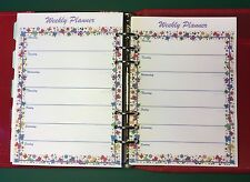 Filofax A5 Organiser - Pretty Weekly Planner Lined Paper Double Sided - 20 pages
