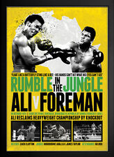 """MUHAMMAD ALI v GEORGE FOREMAN """"Rumble in the Jungle"""" Limited Edition PRINT *SALE"""