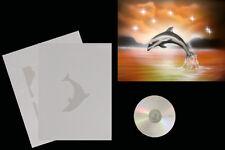 Step by Step Airbrush Schablone / Stencil 0634 Delfin/Landschaft & Anleitungs CD