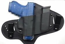 Hybrid Holster for Glock 17,19,23,26,27 IWB or OWB right handed with mag holder