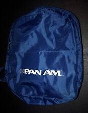 VINTAGE PAN AM AIRLINES CARRY ON FLIGHT TRAVEL BACKPACK BAG MADE USA NEW YORK