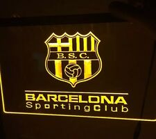 BARCELONA Sporting Club LED Sign 3D Futbol. Guayaquil,Ecuador *NEW*