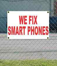 2x3 WE FIX SMART PHONES Red & White Banner Sign NEW Discount Size & Price