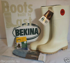 BEKINA STEPLITE wellington boots bottes steel toe cap safety boot taille 7 rp £ 70