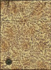 """Simpatico"" Scroll Leaf Print rosy brown on tan Fabric by Maywood"