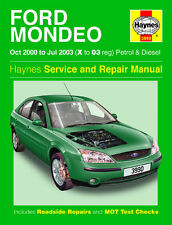 3990 Haynes Ford Mondeo Petrol & Diesel (Oct 2000 - Jul 2003) Workshop Manual
