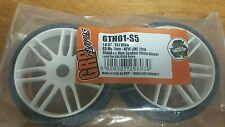1 pair /2 tires grp gth01-s5 1:8 medium white spoked kyosho inferno 17mm hex