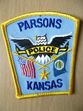 Patches: PARSONS KANSAS KS POLICE PATCH (NEW. apx.3x2.12 inch)
