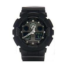 Casio G-Shock Analog/Digital Shock Resistant Matte Black Watch GA100MB-1A