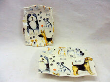 set of 2 dogs and puppies soap dish