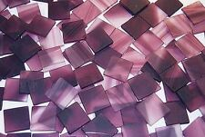 "25 1"" Raspberry Swirl Pink Tumbled Stained Glass Mosaic Tiles"