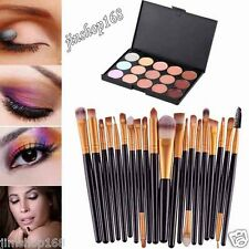 15 Colors Contour Face Cream Makeup Concealer Palette Professional + 20 BRUSH US