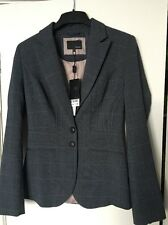 Next Tailored Blazer Grey Rupert Check Size 6 New £40