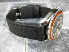 22mm Black PVC Composite Rubber Diver Strap Watch Band Seamaster Maratac 22