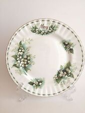 Royal Albert Flower of the Month May Lily of the Valley Salad Plate England