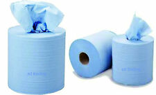 18 x Tissue Wipes Blue Centrefeed Paper Roll 190mm x 150M Commercial Industrial