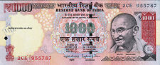 INDIA 1000 RS 2015 L Inset Paper Money Currency Bank Note UNC NEW