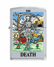 Zippo 6425 Tarot Card Death XIII Satin Chrome Finish Lighter