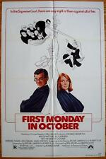 FIRST MONDAY OCTOBER Orig Movie Poster 1981 FOLDED One Sheet 1SH Walter Matthau
