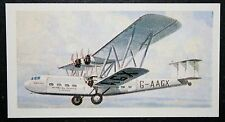 Imperial Airways  Handley Page HP42 E  Airliner     Vintage Colour Card  VGC