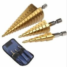 3pcs Imperial HSS Cobalt Drill Bit Set Step Tools Multiple Hole