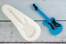 Silicone Mould, Electric Guitar, Music,  Food Safe Sugar craft, fimo, resin M088