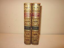 Paradise Lost Paradise Regained by John Milton 1819 Two Volumes Fine Binding