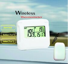 IM100 LCD Digital Wireless Thermometer clock with outdoor temperature Sensor