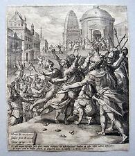 Martyrdom of St Paul Maerten de vos Johann Sadeler Köln 1581 San Pablo de tarsos