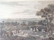 Stahlstich Belagerung Schlacht von Maastricht Aubert nach Van der Meulen ~1830