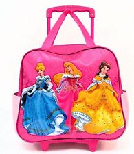 Brand New Disney Princess Girls Pink Rolling Luggage/Travel Bag Kids Pilot Case