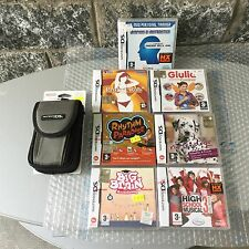 NINTENDO DS BUNDLE  7 GIOCHI GAMES+ NINTENDO DS CARRYING CASE CUSTODIA