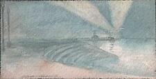 MARCUS ADAMS Watercolour Painting BOURNEMOUTH PIER AT NIGHT c1930 IMPRESSIONIST