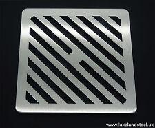 175mm 17cm acciaio inox quadrato in metallo Heavy Duty copertura scarico per cantine Griglia Griglia