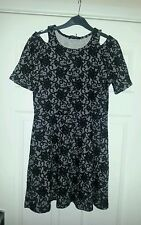 Lovely ladies approx size 12/14 black/grey lace print mini dress. Bnwt NEW