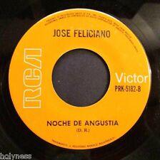 JOSE FELICIANO / NOCHE DE ANGUSTIA / CUATRO LINEAS PARA EL CIELO / 45 RPM RECORD
