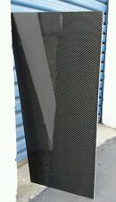"Real Carbon Fiber Fiberglass Panel Sheet 6""×24""x1/8"" Glossy Both Sides"