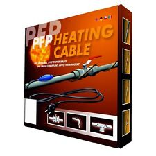 PFP-2M Frost Protection Heating Cable Kit C/W Thermostat+13A Plug 2M Long 25W