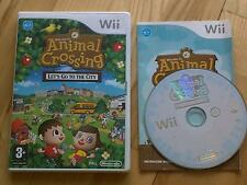 Animal Crossing Let's Go To The City - City Folk Wii kids game