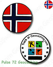 Norwegian Flag Micro Geocoin For Geocaching - Norway