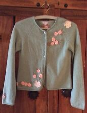 Monsoon girls Floral Patchwork/green cardigan 10-12yrs