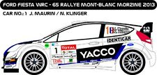 DECALS 1/43 FORD FIESTA WRC #1 - MAURIN - RALLYE MONT BLANC 2013 -MF-ZONE D43239