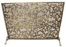 "FIREPLACE SCREENS - ""BARRINGTON COURT"" FIREPLACE SCREEN - BURNISHED GOLD PATINA"