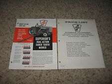 SUPERIOR'S TRACTOR DUAL-ACTION SABER TOOTH MOWER BROCHURE W/ PRICE-LIST