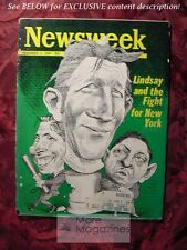 NEWSWEEK November 3 1969 Nov 69 11/3/69 JOHN LINDSAY NEW YORK CITY