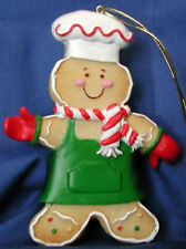 GINGERBREAD ORNAMENT (GREEN)  W/COOKIE CUTTER & RECIPE! RETIRED