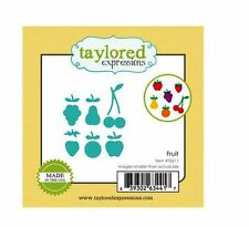 Taylored Expressions Cutting Die Set ~ FRUIT Stems, Leaves, Cherry, Apple ~TE611