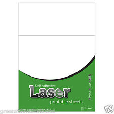10 A4 Self Adhesive Laser Printable Gloss Clear Plastic Film Sticker Art Sheets