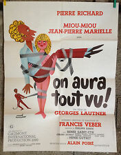 cinema-affiche originale-ON AURA TOUT VU ! 60x80 Lautner-Pierre Richard