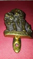 Heurtoir/marteau de porte en bronze représentant 2 cockers spaniels